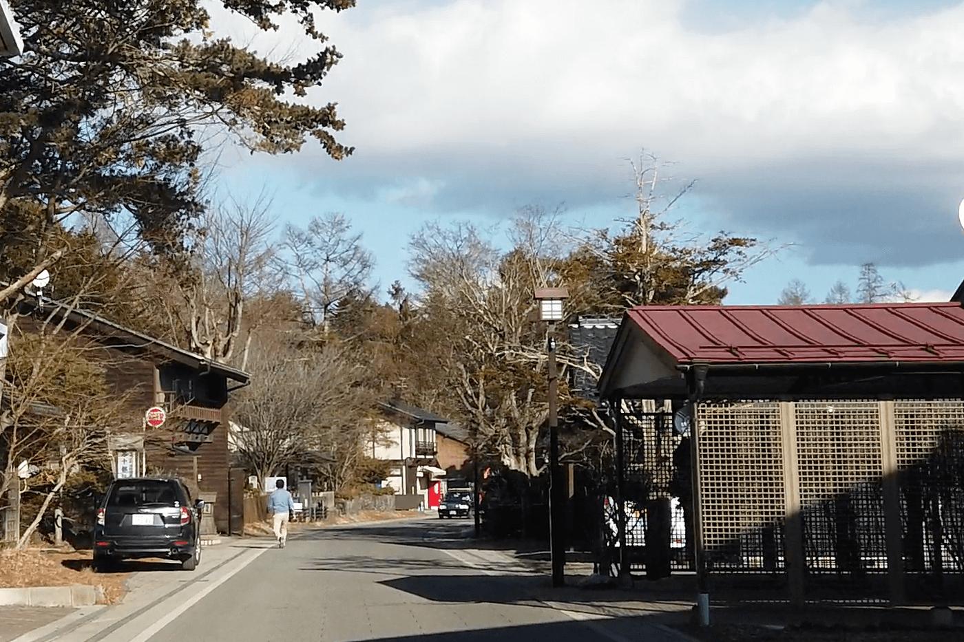 軽井沢「追分宿通り」
